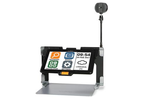 Connect 12 Tablet viser hjemmeskærm og tavlekamera