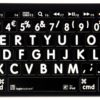 Logickeyboard Bluetooth Hvid på Sort 1