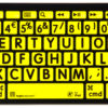 Logickeyboard Bluetooth Sort på Gul 1