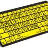 Logickeyboard Bluetooth Sort på Gul