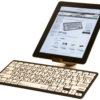 Logickeyboard Bluetooth med iPad Sort på Hvid