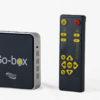 Billede af Go-box ved siden af fjernbetjening med skygge